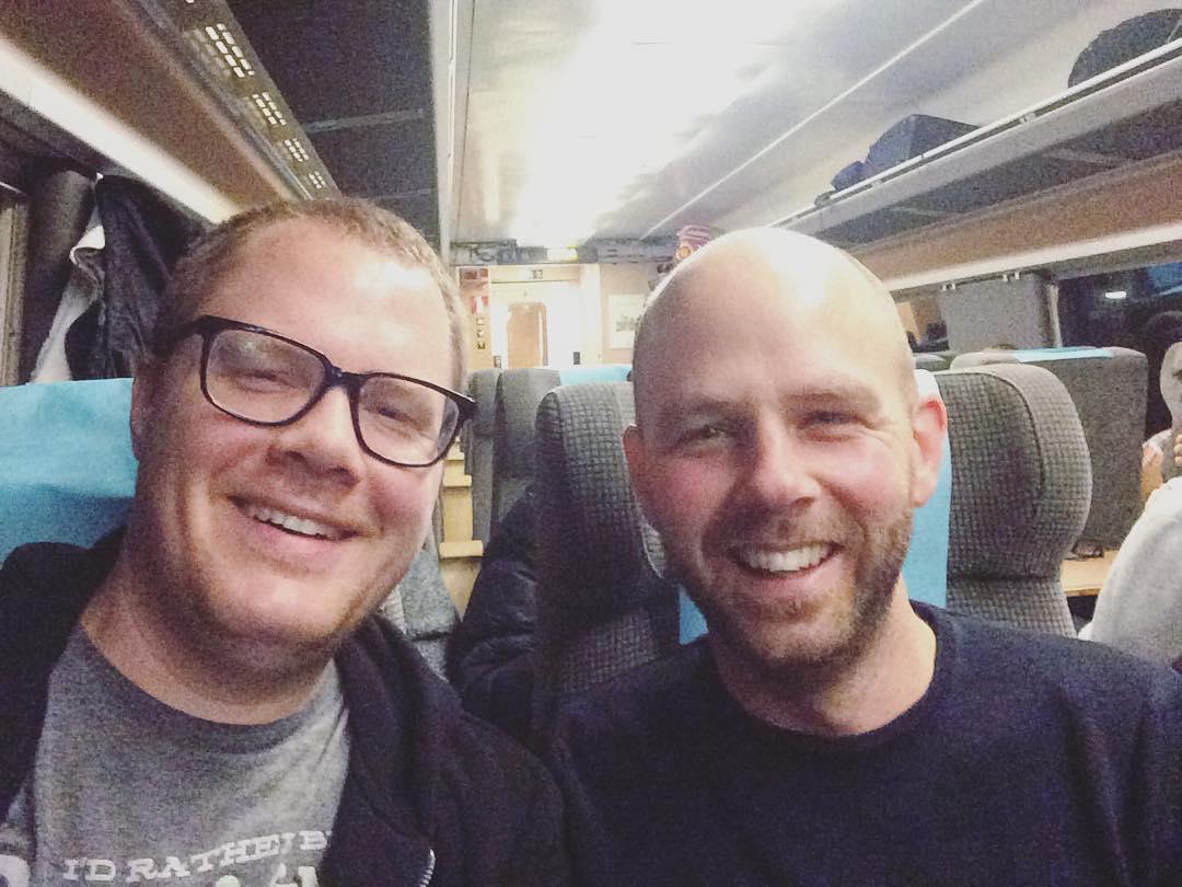 05:48 – Stockholm, here we come!! ? #stockholm #train #brödernabrothers